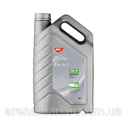 Минеральное моторное масло MOL Turbo Diesel 15W-40 - 4л