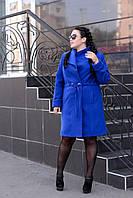 Женское модное пальто в больших размерах tez1015135