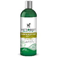 VET'S BEST Oatmeal Medicated Shampoo, 470 мл - шампунь от перхоти и шелушения для собак с сухой кожей