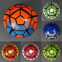 Мяч футбольный 779-834, мягкий PVC, вес 400-420 грамм, баллон с ниткой, 6 цветов