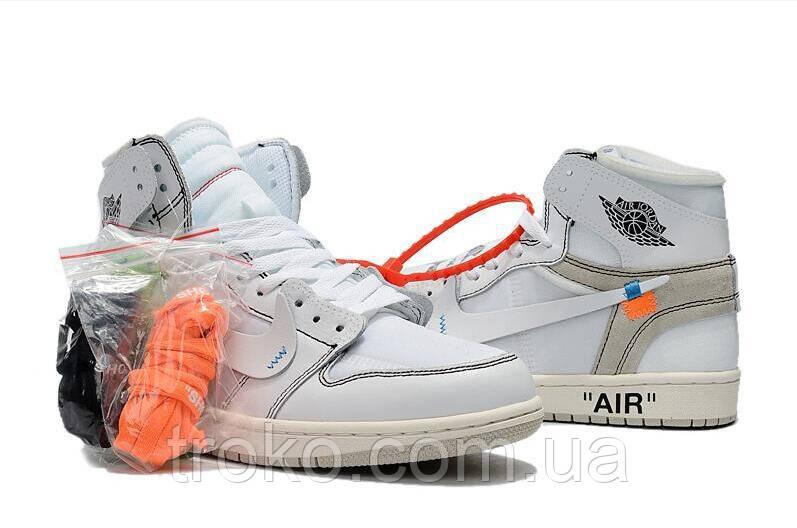 77de70cba3c9 Мужские кроссовки Nike Air Jordan 1 x Off-White AQ0818-100, цена 1 ...