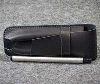 Кожаный футляр для 2-х ручек, аксессуары из кожи