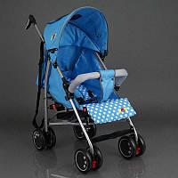 Детская прогулочная коляска JOY Q 2005, 1 цвет голубой, широкий козырек, футкавер, d колес - 15см, в корке