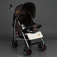 Детская прогулочная коляска JOY Q 2005, 1 цвет коричневый, широкий козырек, футкавер, d колес - 15см, в коробке