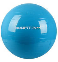 Мяч для фитнеса (фитбол) 55 см Profil MS 0381 голубой