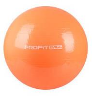 Мяч для фитнеса (фитбол) 55 см Profil MS 0381 оранжевый