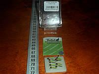Вольфрамовая мормышка гвоздекубик гвоздешарик набором 10 штук