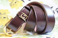 Ремень коричневый классический женский Gucci