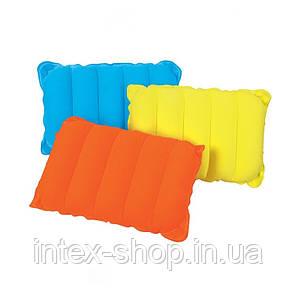 Надувная подушка Travel Pillow, 44х28 см (BestWay 67485 O) оранжевая, фото 2