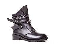 Черные женские весенние ботинки
