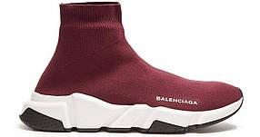 Кроссовки женские Balenciaga - Burgundy\White, материал - текстиль, подошва - пена