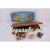 Шахматы деревянные Бамбук 2в1: шахматы + нарды, 40х21см