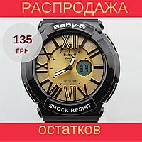 Детские, женские  спортивные часы Casio Baby-G BGA-160 Black - Gold