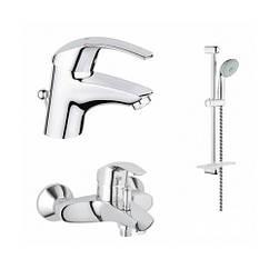 🇩🇪 Eurosmart Набор смесителей для ванны (33265002+33300002+27926000) GROHE 123238 S