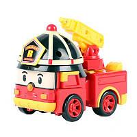 Машинка-трансформер пожарная машина Рой Robocar Poli/Робокар Поли: 10 см, фото 1