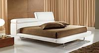 Итальянская белая кровать в коже с подъемным подголовником LINK фабрика MAX DIVANI