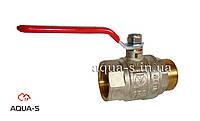 """Кран шаровой полнопроходной для воды Внутренний-Внутренний (ручка длинная стальная)  DN 3/4"""" Valtec Base"""