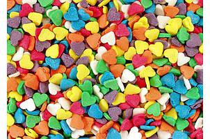 Посыпка кондитерская Сердечки ассорти цветное