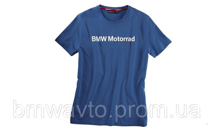 Мужская футболка BMW Motorrad Logo T-Shirt in Blue, for men, фото 2