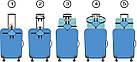 Ремені для ручної поклажі Coverbag електрик, фото 2