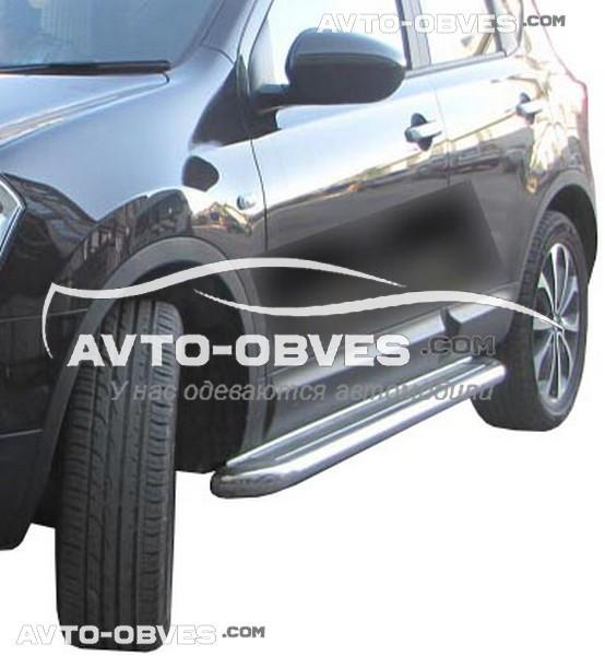 Подножки из нержавейки для Nissan Qashqai 2+, Ø 42 \ 51 \ 60 мм