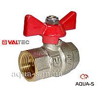 """Кран шаровой полнопроходной для воды Внутренний-Внутренний (ручка """"бабочка"""")  DN 1/2"""" Valtec"""