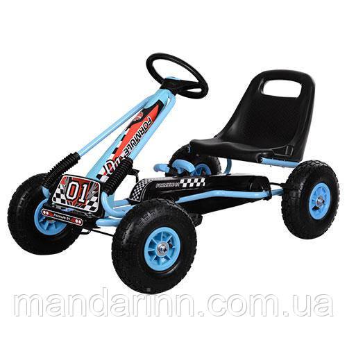 Детская педальная машина веломобиль Карт M 0645-12
