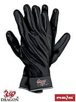Защитные перчатки из нейлона с полным (всей кисти) нитриловым покрытием чёрного цвета RNIFO-FULL SB -7,8, 9,10