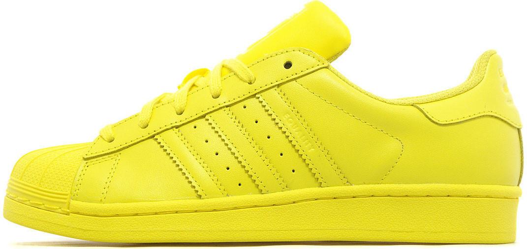 6cea364245ec4a Женские кроссовки Pharrell Williams x Adidas Superstar Supercolor Yellow