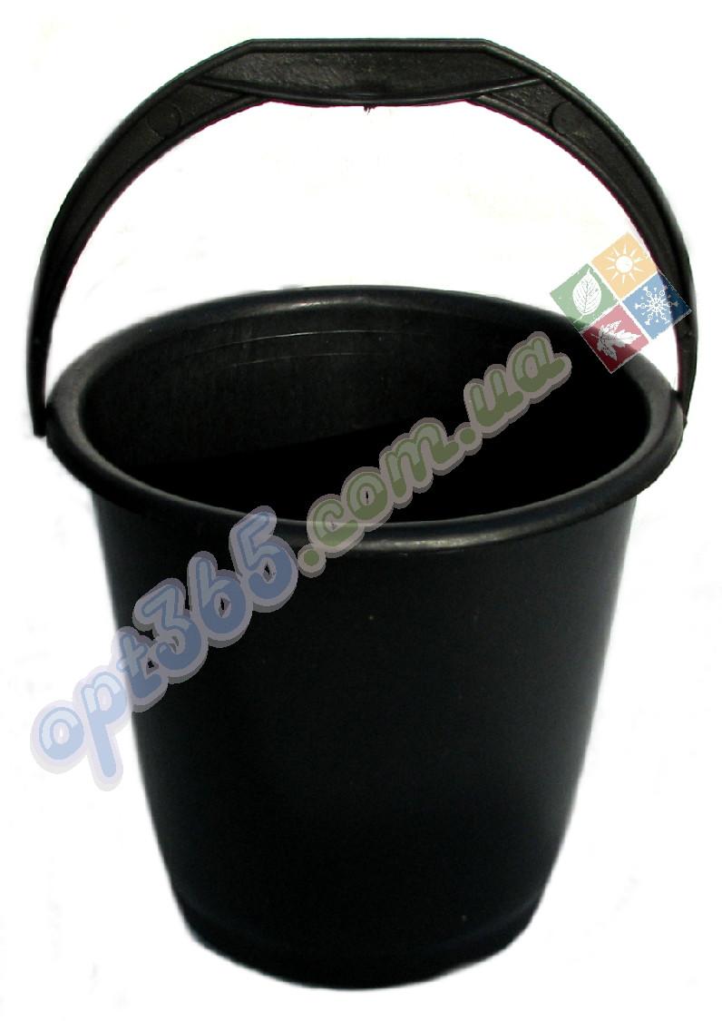 Ведро пластмассовое 10 л черное - Интернет-магазин opt365 в Харькове