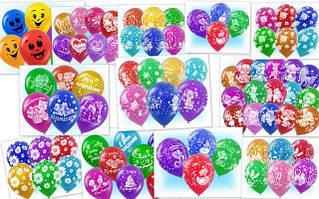 Шарики воздушные латексные с рисунком, с надписью (офсет, шелкография)