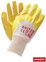 Защитные перчатки, покрытые нитрилом, отделанные резинкой RNITZ BEY - 9