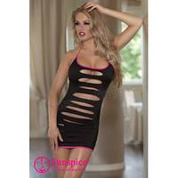 Платье черное с розовой окантовкой и трусиками