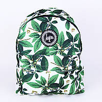 Романтичный белый городской рюкзак Сад с листьями