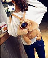 Детский плюшевый рюкзак Медведь
