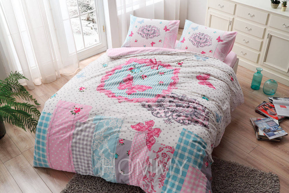 Постельный комплект BUTTERFLY V01 Розовый