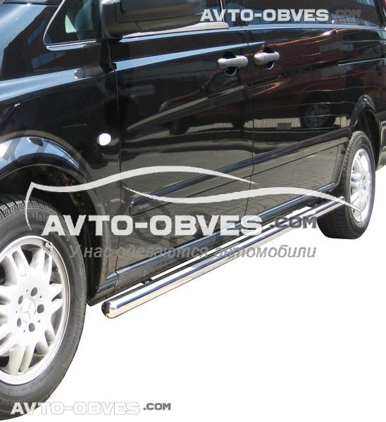 Труби бічні Mercedes Vito \ Viano, кор (L1) / серед (L2) / довга (L3) бази, Ø 42   51   60   70 мм