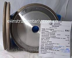 Алмазный круг (1DD6V) 150х14х4,5х2.5х6,5х22 для обработки стекла АС32 связка М-300
