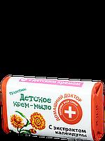 Детское крем-мыло с экстрактом календулы 70 г / Домашний доктор