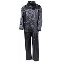 Дождевой костюм чёрный, полиэстер MFH 08301A, оригинал, новый.