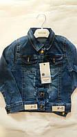 Куртка джинсовая для девочки 3-7 лет с вышивкой роза на спине оптом
