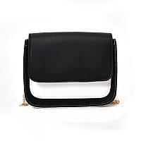 Черно-белая женская сумка, кроссбоди