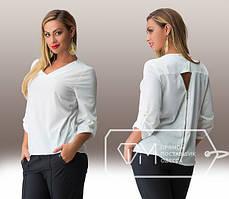 Женская батальная рубашка в разных цветах tez151592