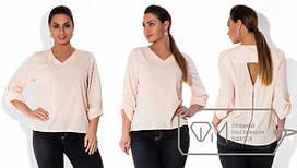 Женская блуза Батал из креп-шифона в разных цветах tez1515170