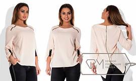 Женская стильная блуза из креп-шифона (размеры 48+) tez1515171