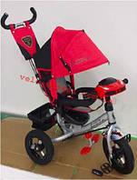 Детский трехколесный велосипед Ламботрайк с фарой надувные колеса