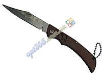 Нож складной, маленький, деревянная ручка 17 см