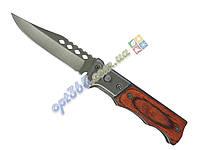 Нож выкидной маленький, деревянная ручка