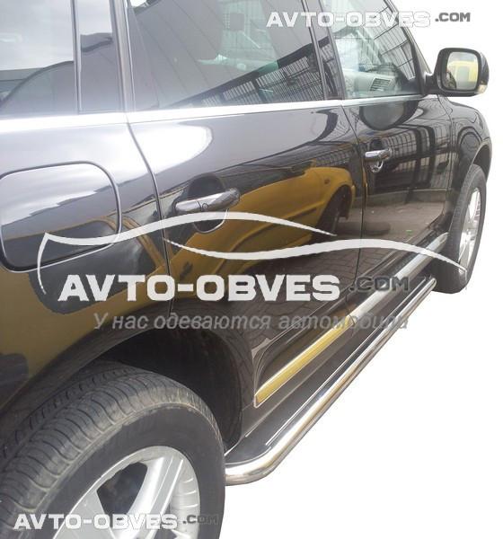 Підніжки з нержавійки для Audi Q7 2007-2015, Ø 42 \ 51 \ 60 мм