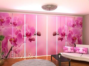 """Панельные Фото шторы """"Розовая орхидея 2"""" 480 х 240 см"""